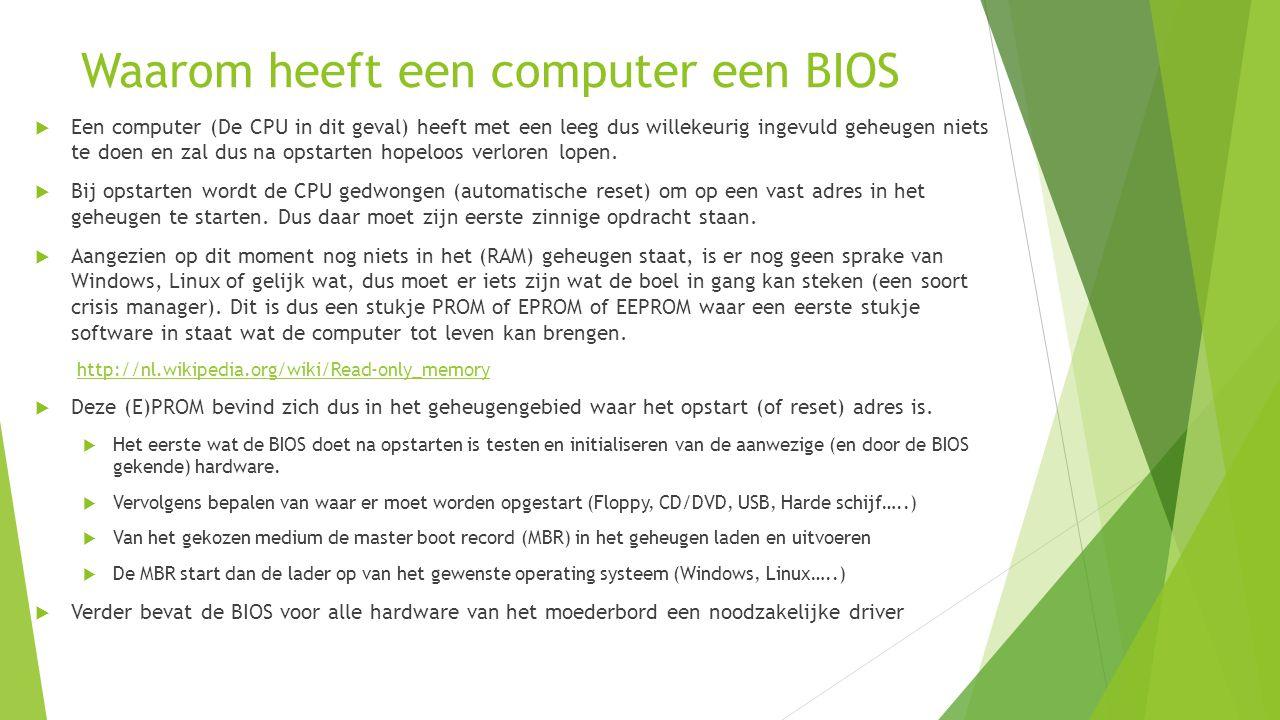 Waarom heeft een computer een BIOS
