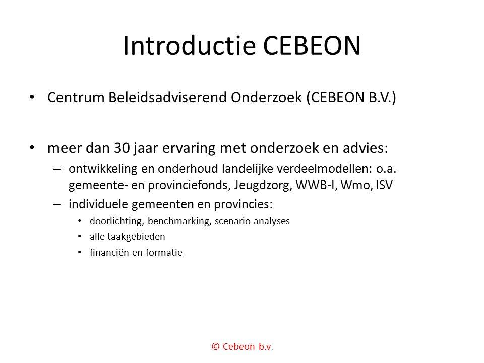 Introductie CEBEON Centrum Beleidsadviserend Onderzoek (CEBEON B.V.)