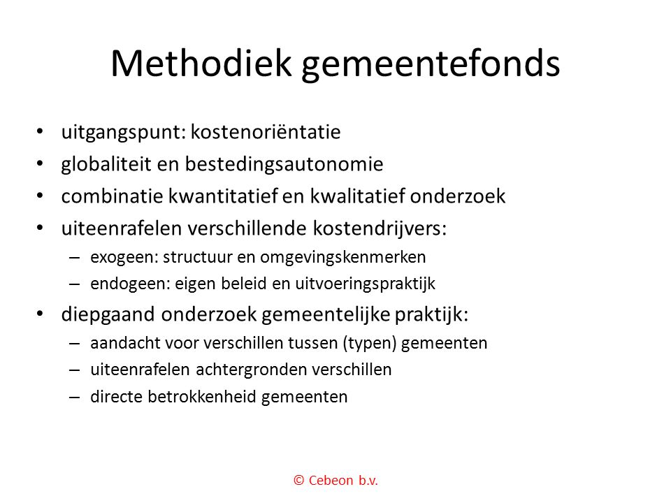 Methodiek gemeentefonds