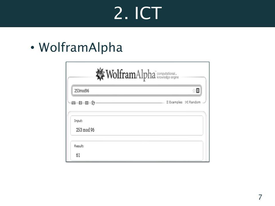 2. ICT WolframAlpha