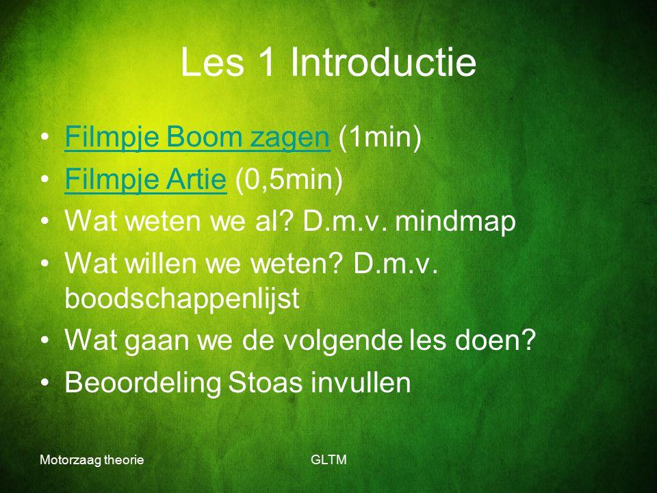 Les 1 Introductie Filmpje Boom zagen (1min) Filmpje Artie (0,5min)