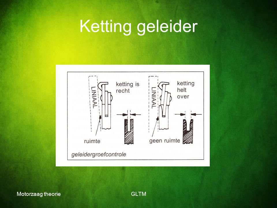 Ketting geleider Motorzaag theorie GLTM