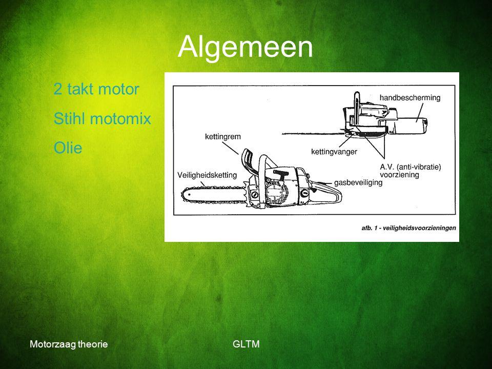 Algemeen 2 takt motor Stihl motomix Olie Motorzaag theorie GLTM