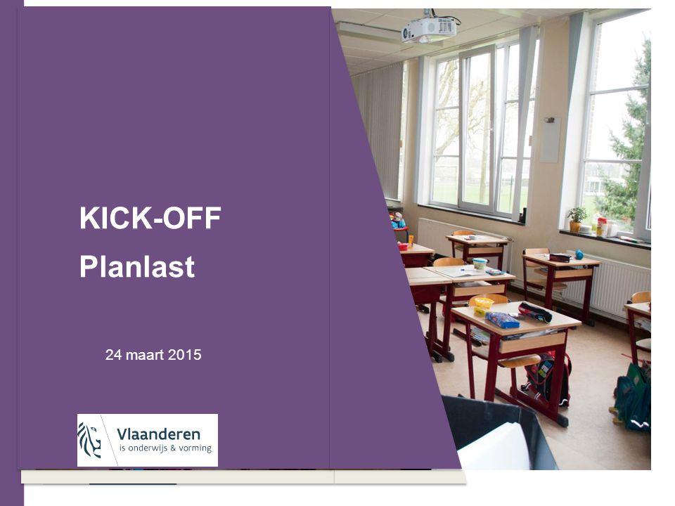 KICK-OFF Planlast 24 maart 2015