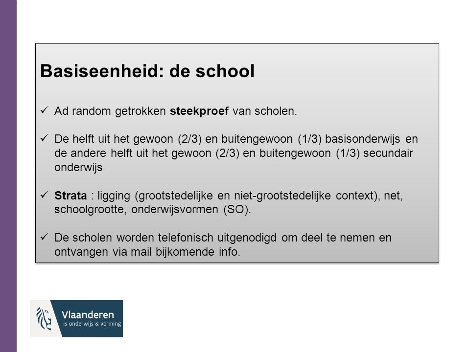 Basiseenheid: de school