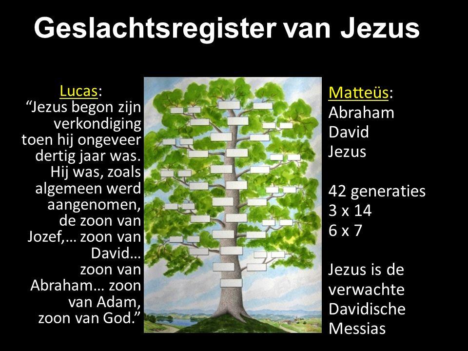 Geslachtsregister van Jezus