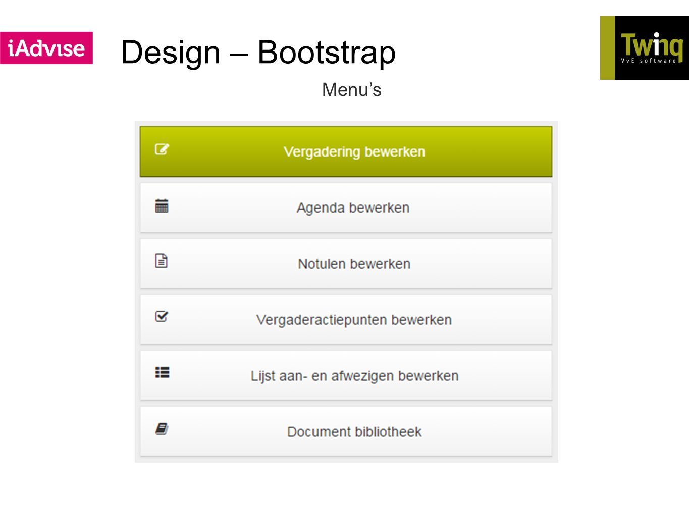 Design – Bootstrap Menu's