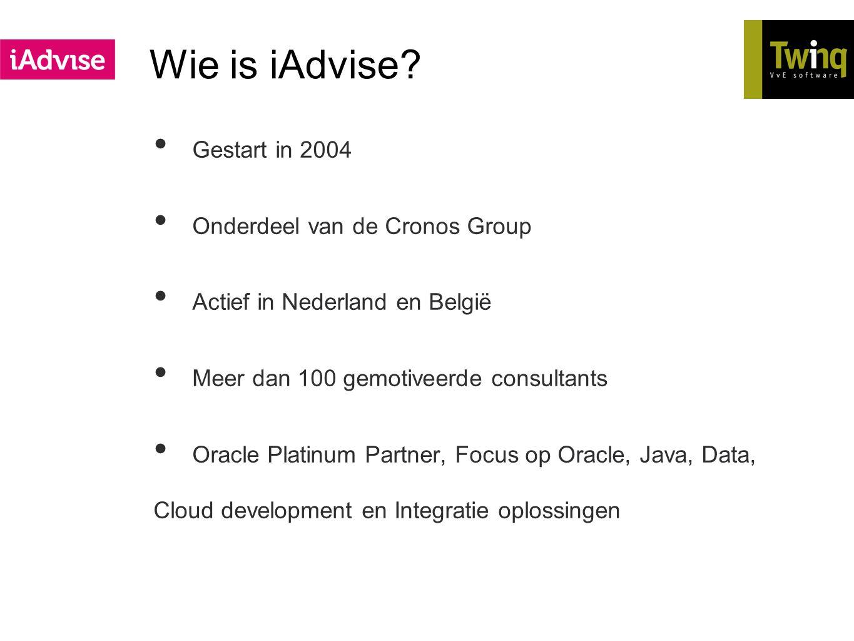 Wie is iAdvise Gestart in 2004 Onderdeel van de Cronos Group