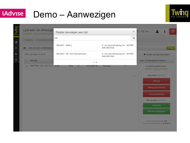 Demo – Aanwezigen Meerdere korte filmpjes
