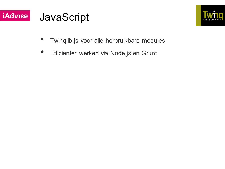JavaScript Twinqlib.js voor alle herbruikbare modules