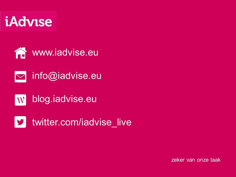 www.iadvise.eu info@iadvise.eu blog.iadvise.eu twitter.com/iadvise_live
