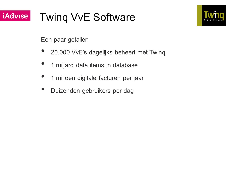 Twinq VvE Software Een paar getallen