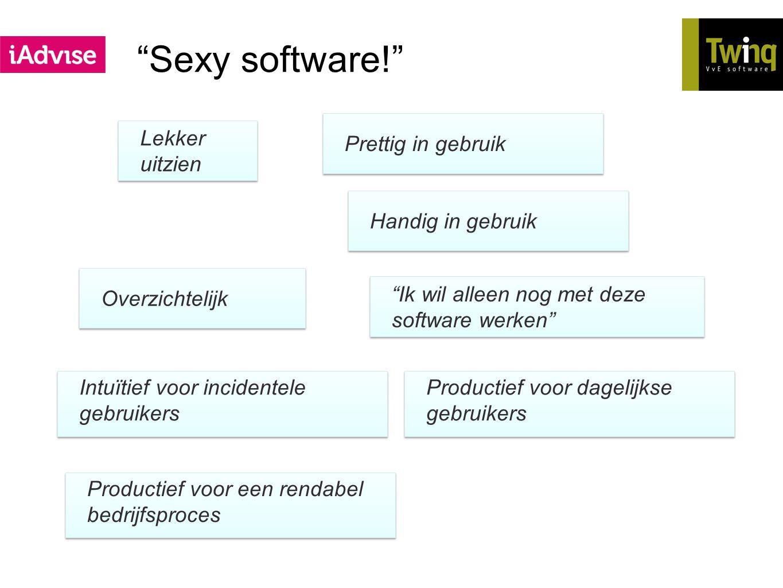 Sexy software! Prettig in gebruik Lekker uitzien Handig in gebruik