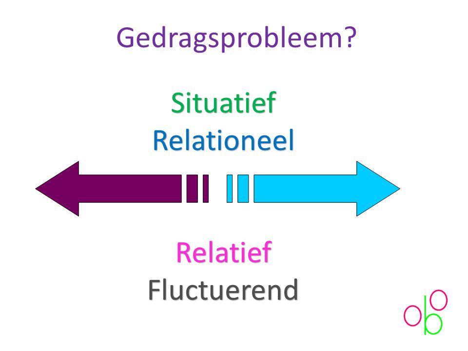 Gedragsprobleem Situatief Relationeel Relatief Fluctuerend