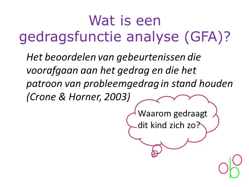 Wat is een gedragsfunctie analyse (GFA)