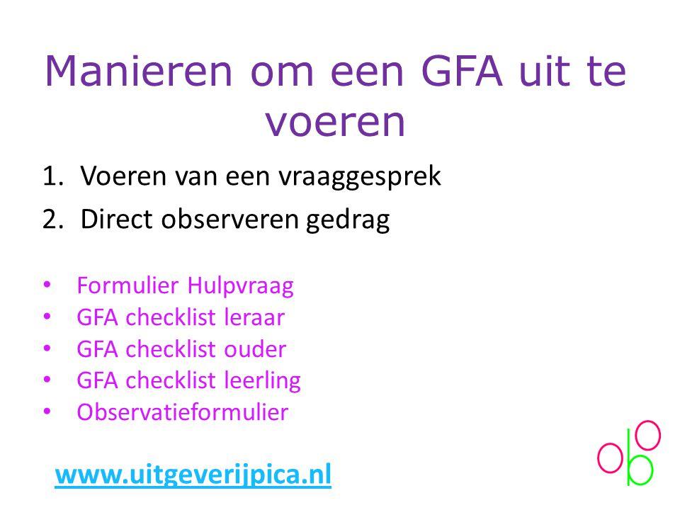 Manieren om een GFA uit te voeren