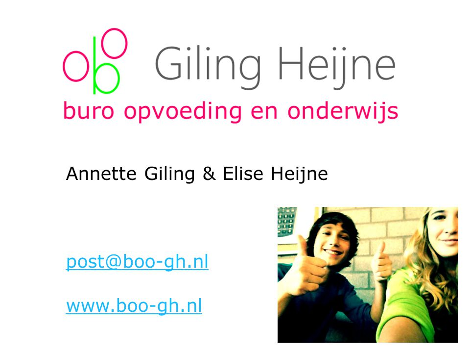 Annette Giling & Elise Heijne