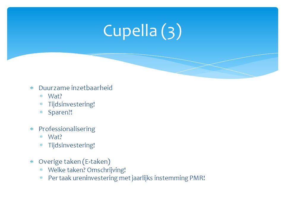 Cupella (3) Duurzame inzetbaarheid Professionalisering