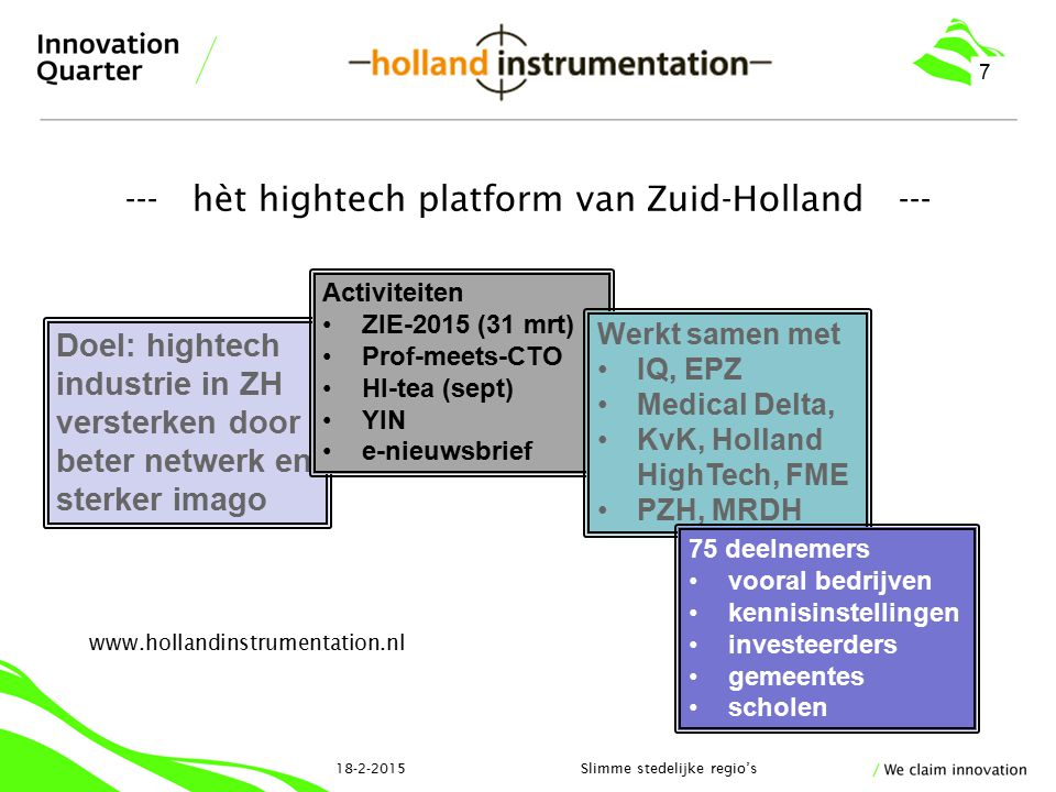 --- hèt hightech platform van Zuid-Holland ---