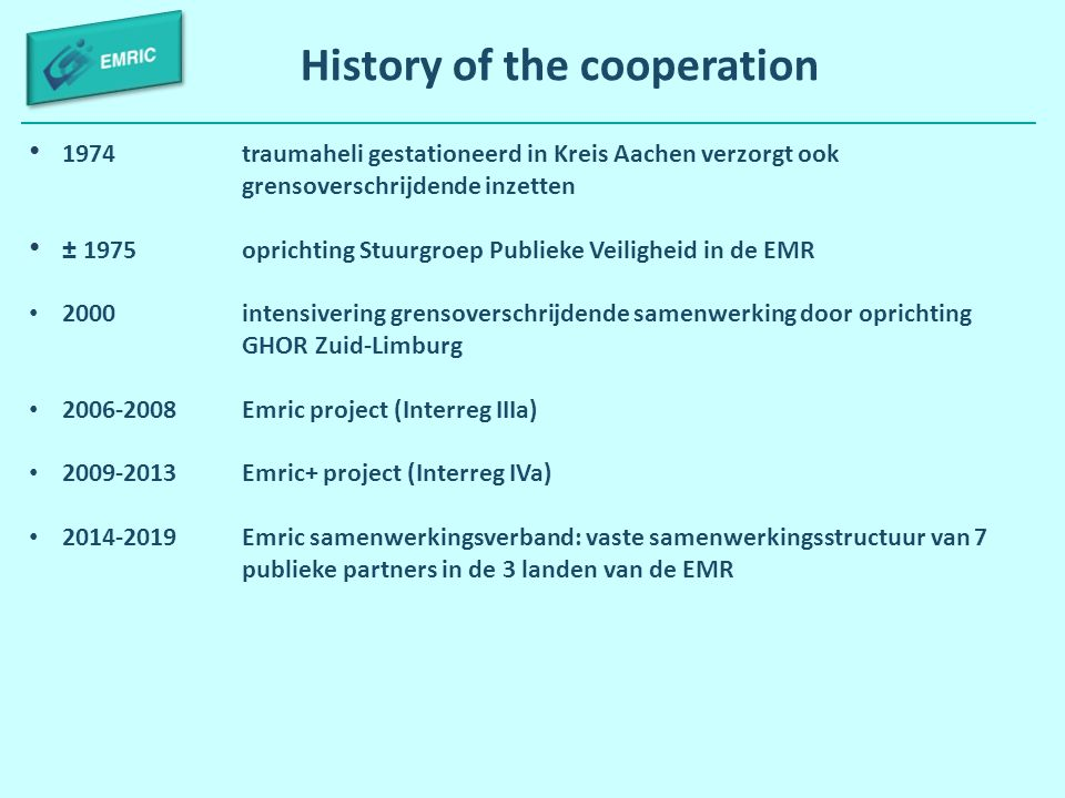 History of the cooperation