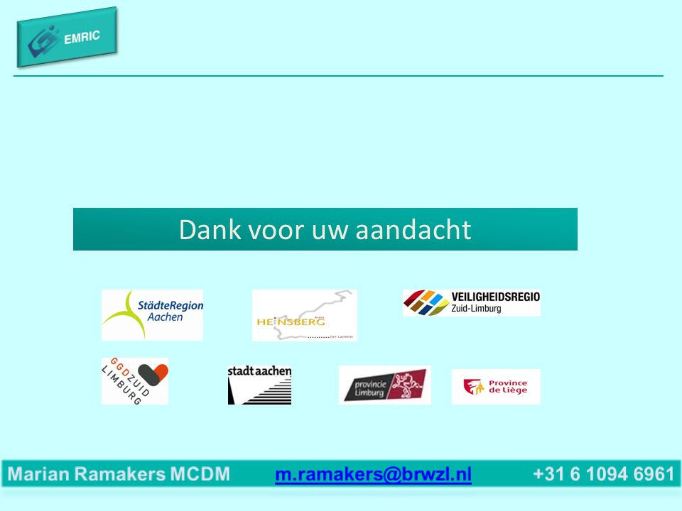 Dank voor uw aandacht Marian Ramakers MCDM m.ramakers@brwzl.nl +31 6 1094 6961.