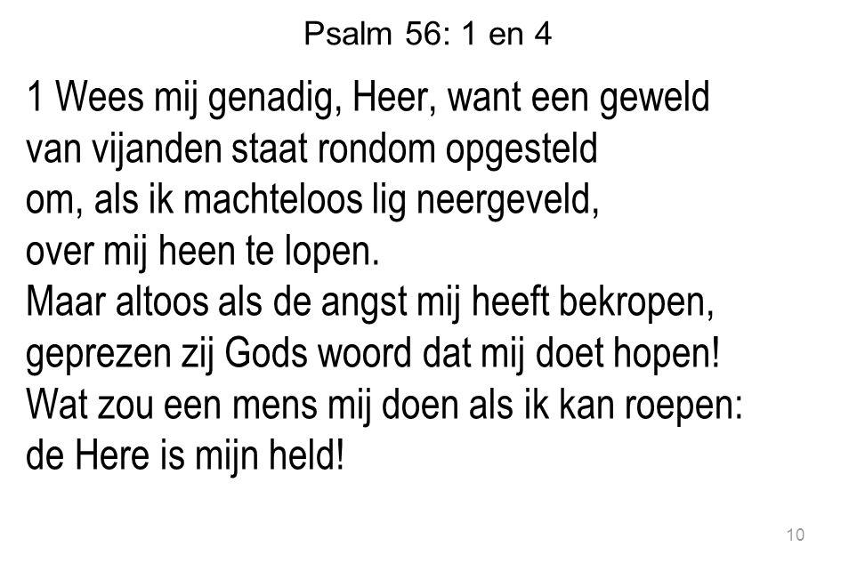 Psalm 56: 1 en 4