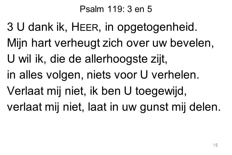 Psalm 119: 3 en 5