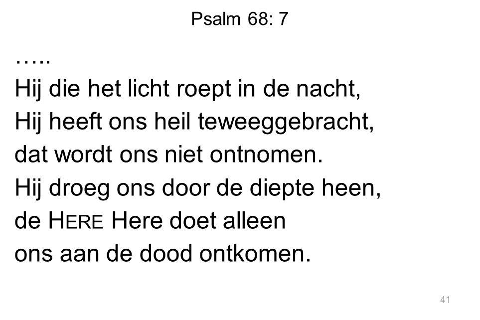 Psalm 68: 7