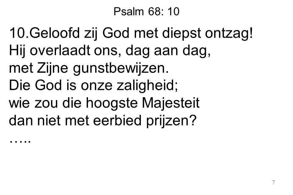 Psalm 68: 10