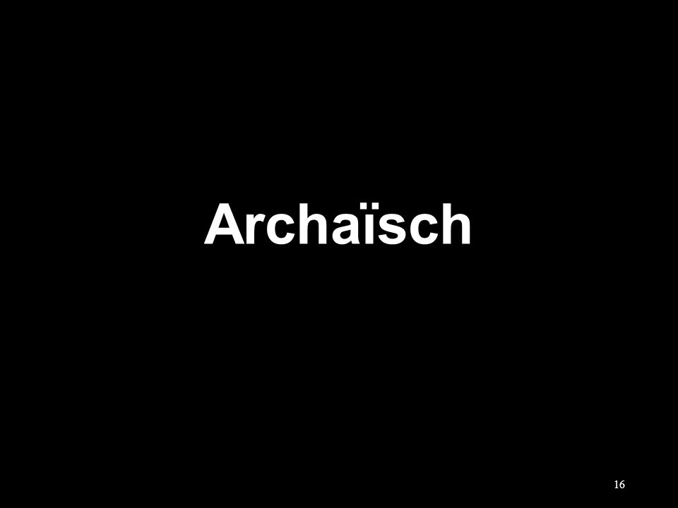 Archaïsch