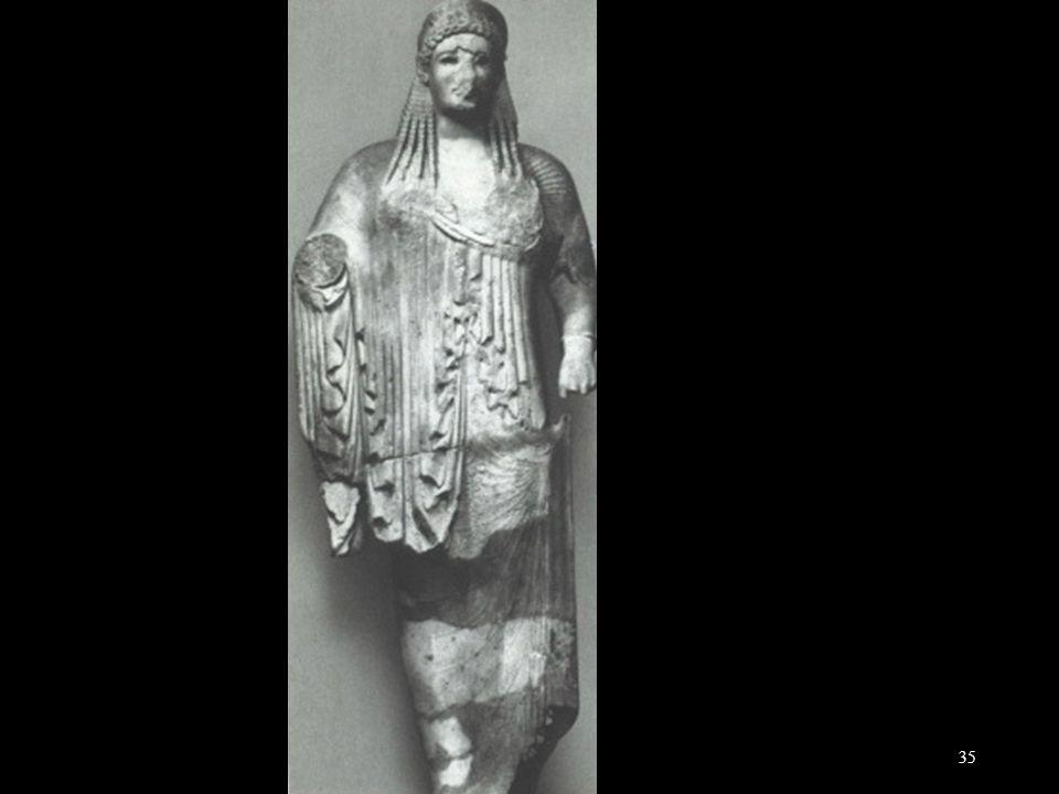 Kore, gevonden op de Akropolis, 530-525
