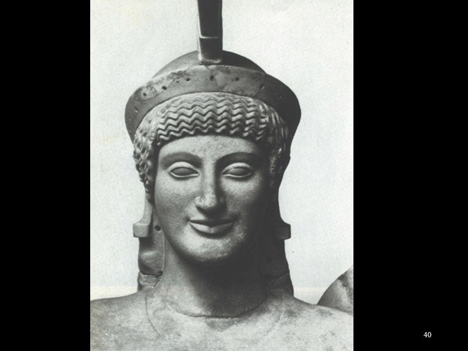 Hoofd van Athene van de tempel van Aphaia van Aegina, 500-480