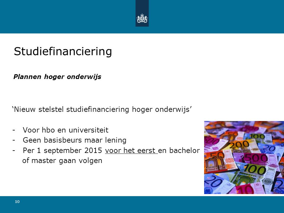 Plannen hoger onderwijs