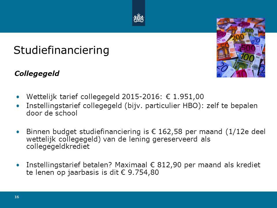 Studiefinanciering Collegegeld