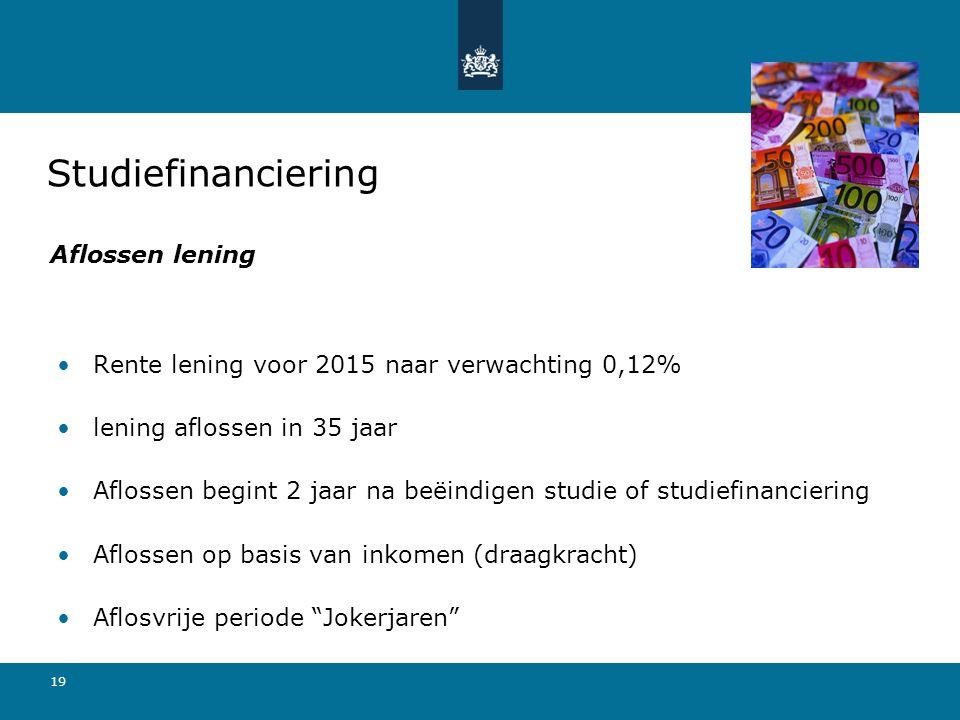 Studiefinanciering Aflossen lening