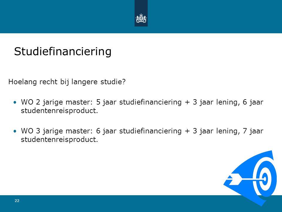Studiefinanciering Hoelang recht bij langere studie