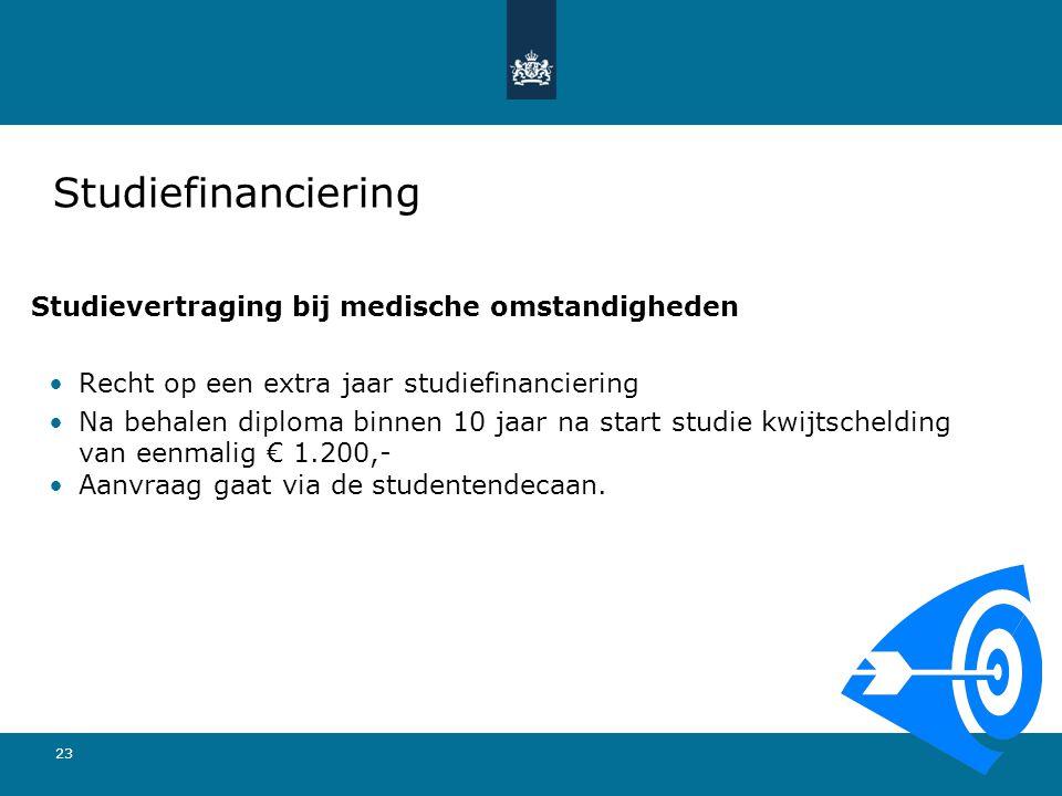 Studiefinanciering Studievertraging bij medische omstandigheden