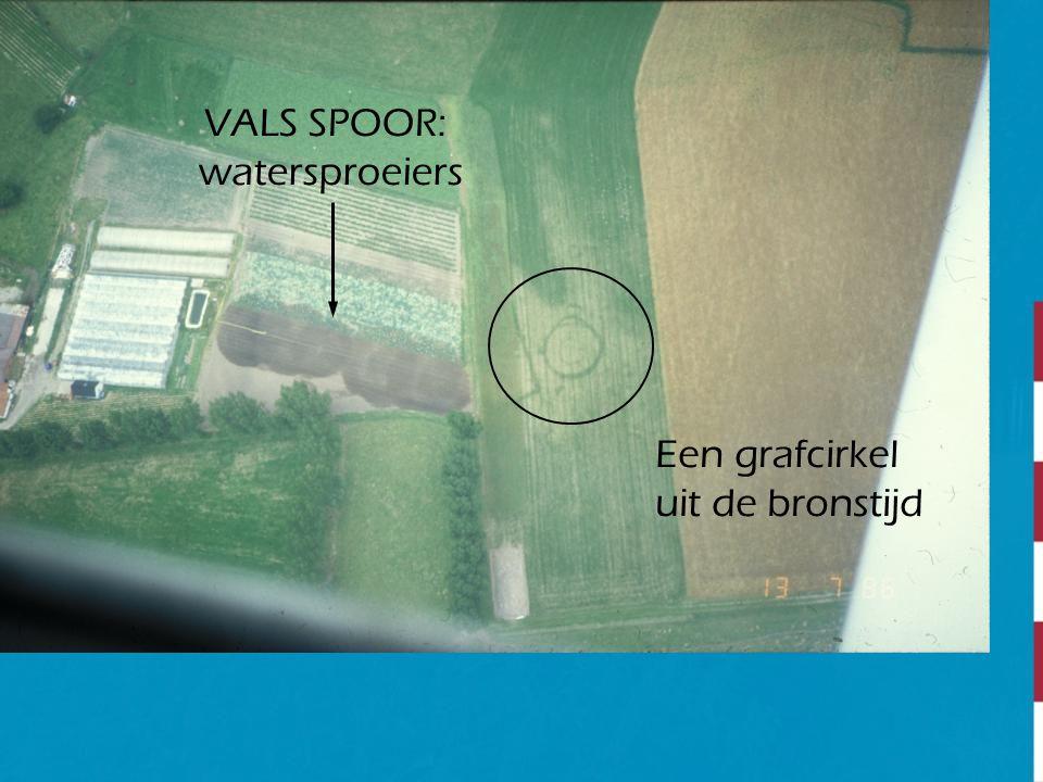 VALS SPOOR: watersproeiers Een grafcirkel uit de bronstijd