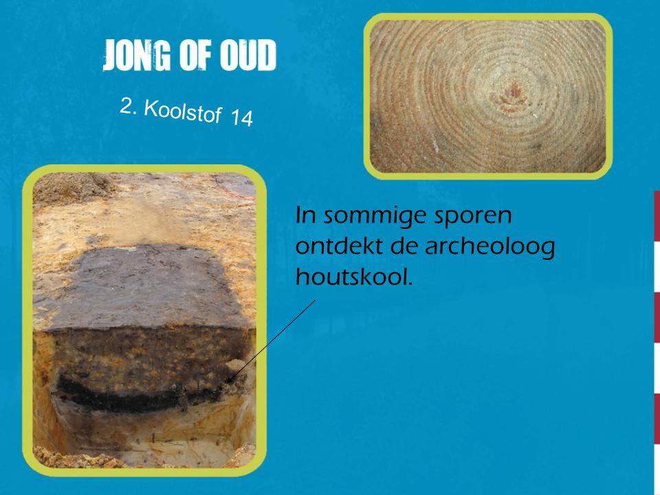 In sommige sporen ontdekt de archeoloog houtskool.