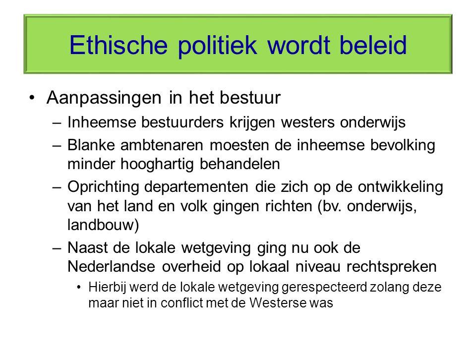 Ethische politiek wordt beleid
