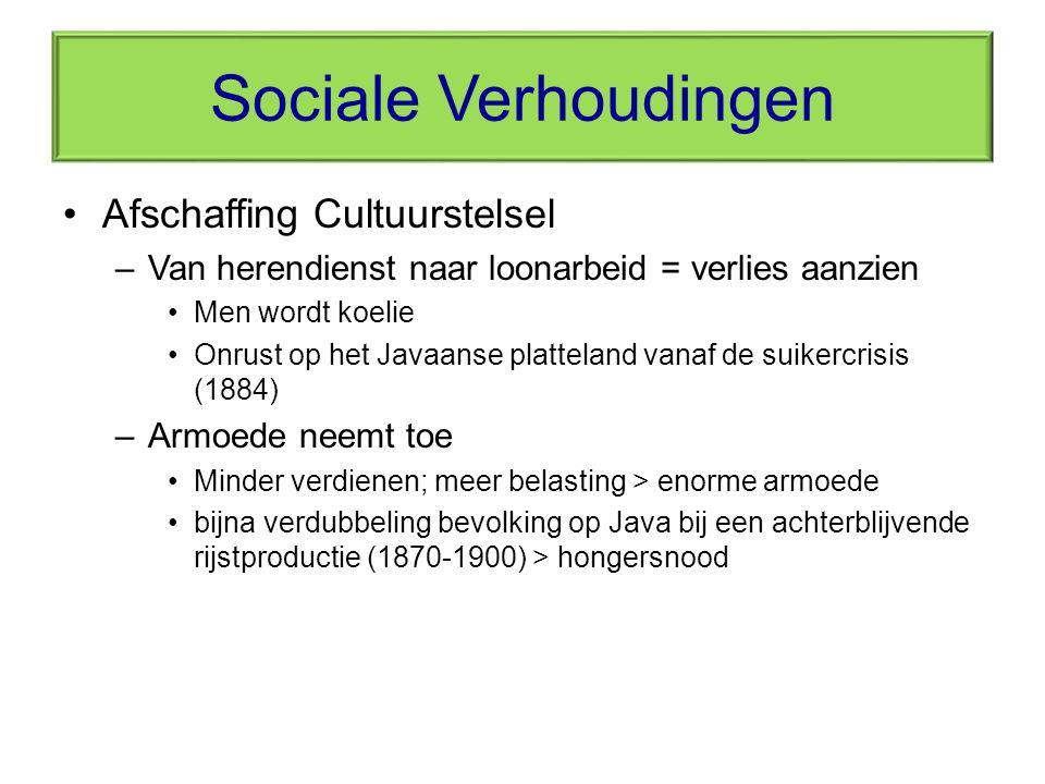 Sociale Verhoudingen Afschaffing Cultuurstelsel