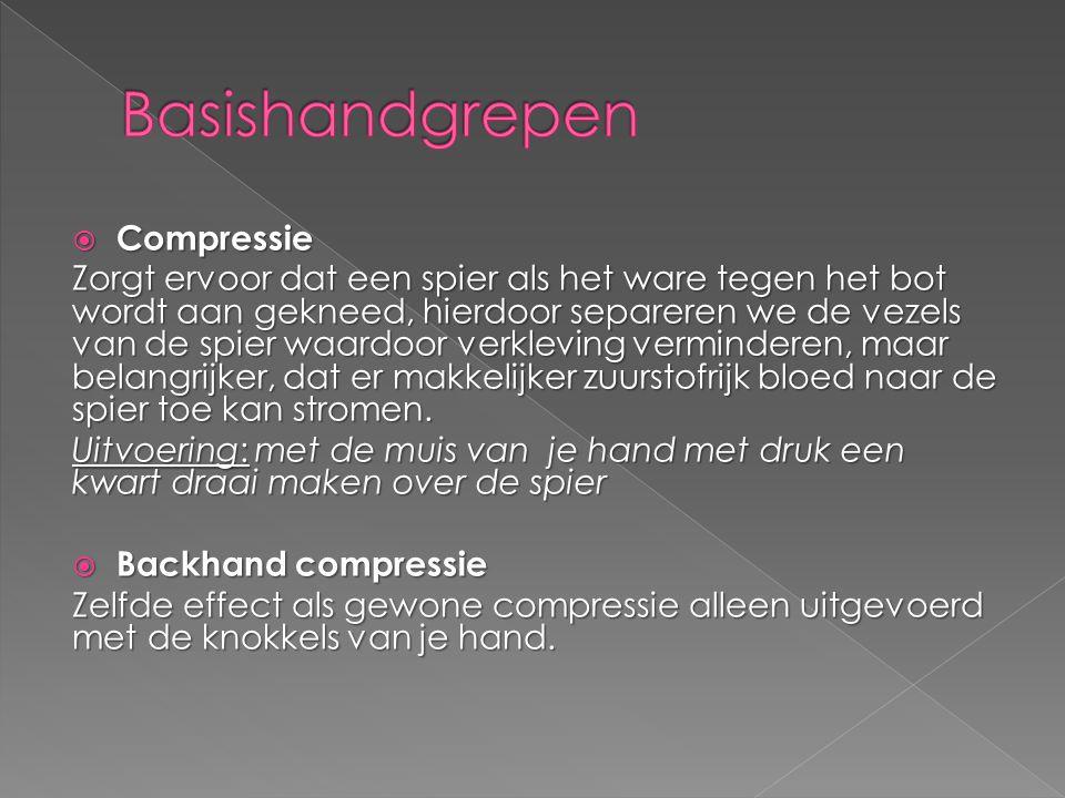 Basishandgrepen Compressie