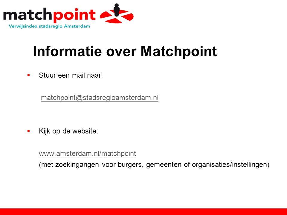 Informatie over Matchpoint