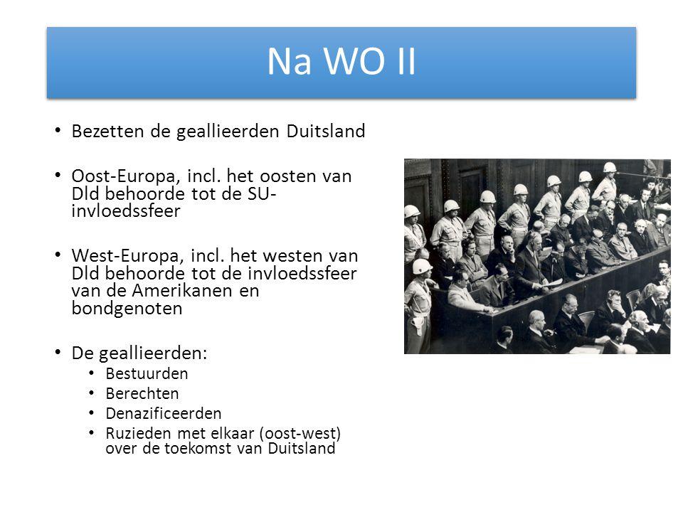 Na WO II Bezetten de geallieerden Duitsland