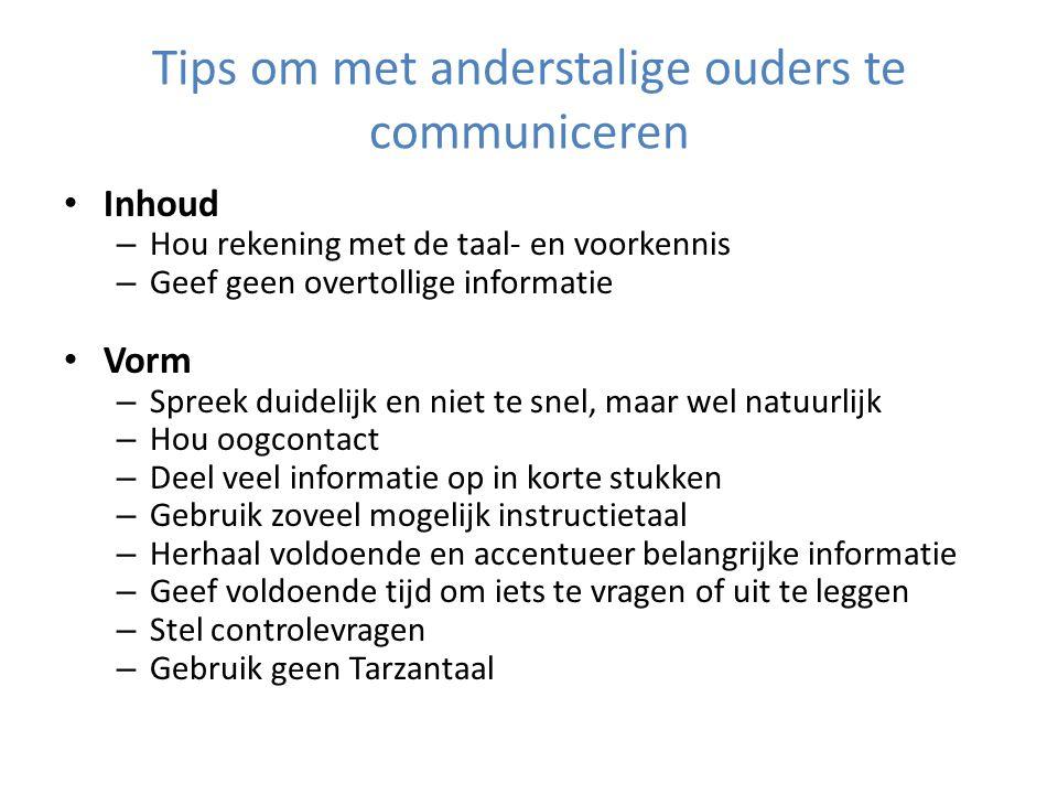 Tips om met anderstalige ouders te communiceren