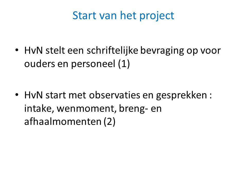 Start van het project HvN stelt een schriftelijke bevraging op voor ouders en personeel (1)