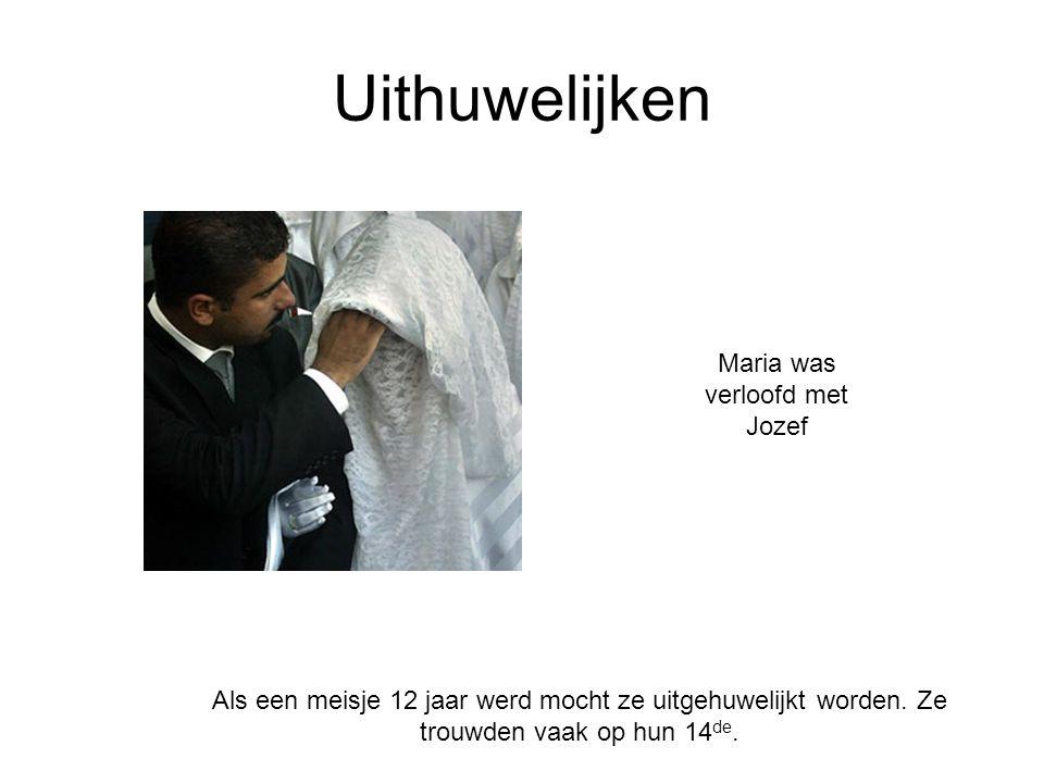 Maria was verloofd met Jozef
