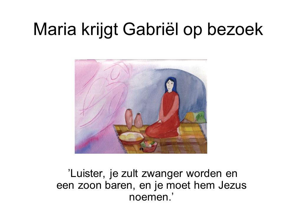 Maria krijgt Gabriël op bezoek