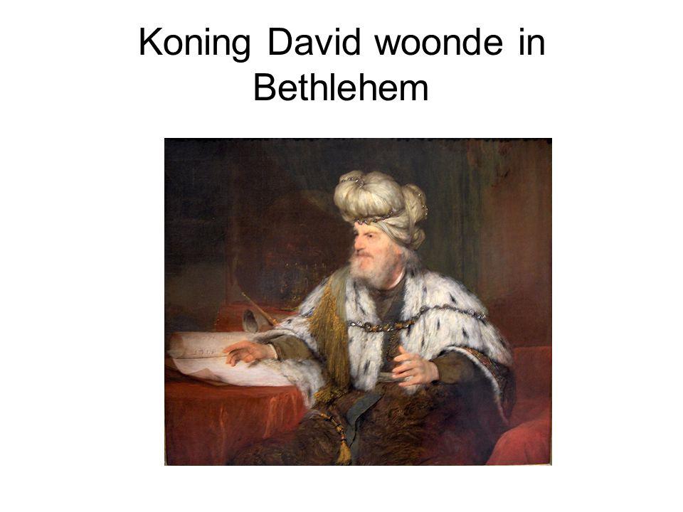 Koning David woonde in Bethlehem