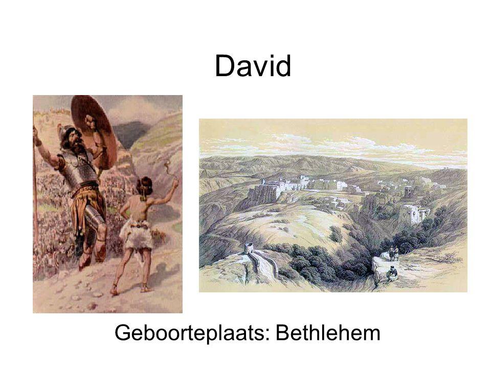Geboorteplaats: Bethlehem